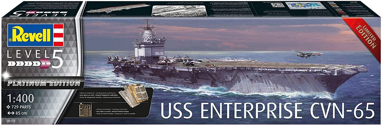 Revell 1/400 Scale USS Enterprise CVN-65 (Platinum Edition)