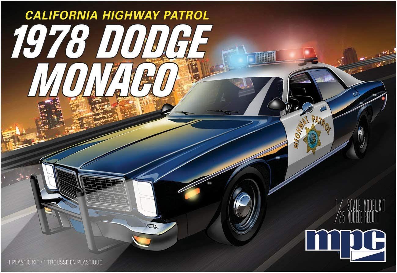 MPC 1/25 Scale 1978 Dodge Monaco CHP Police Car 2T