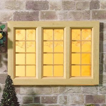 Large Cottage Wooden Window 1:12 Scale by Dolls House Emporium 97 x 144mm