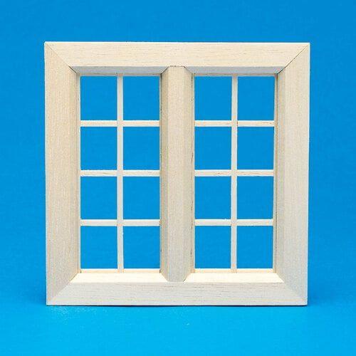 Medium Cottage Wooden Window 1:12 Scale by Dolls House Emporium