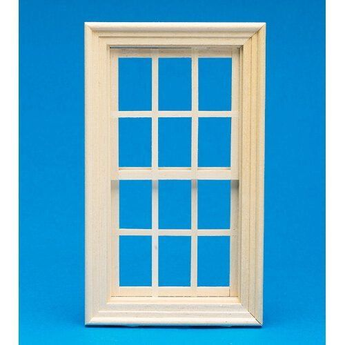 Working Wooden Sash Window 1:12 Scale by Dolls Houses Emporium 143 x 80mm