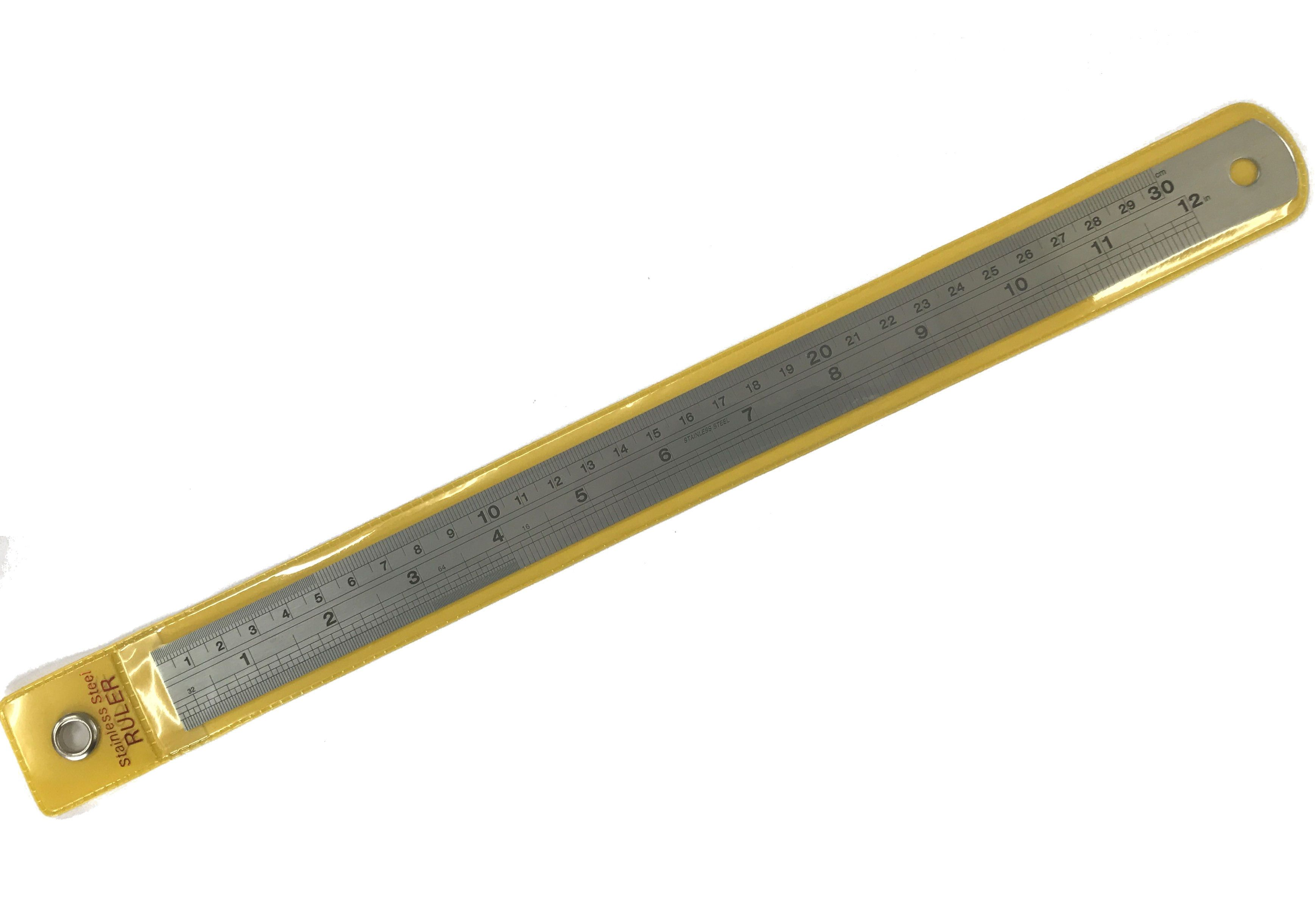 Stainless Steel 12 inch Engraved Rule