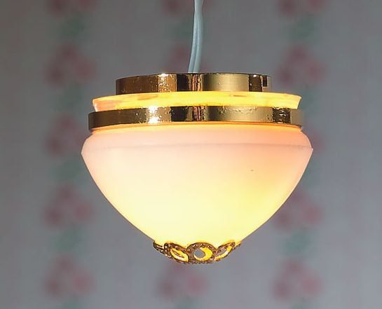 Domed Flush Ceiling Light 1:12 Scale for Dolls House by Dolls House Emporium