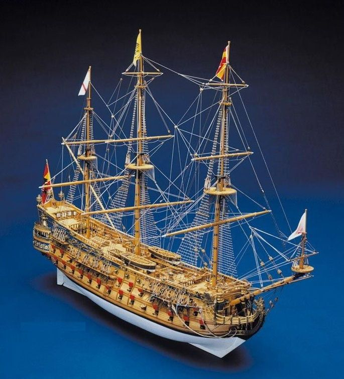 Mantua Models San Felipe 1690 Model Ship Kit - Optional Pre-stitched Sail Set