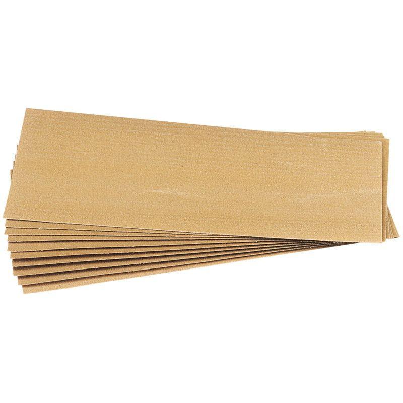 10 Assorted Glasspaper Sheet Pack
