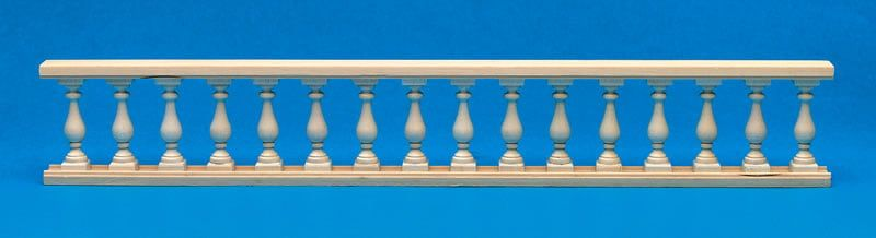 Wooden Balustrade 340mm 1:12 Scale for Dolls House