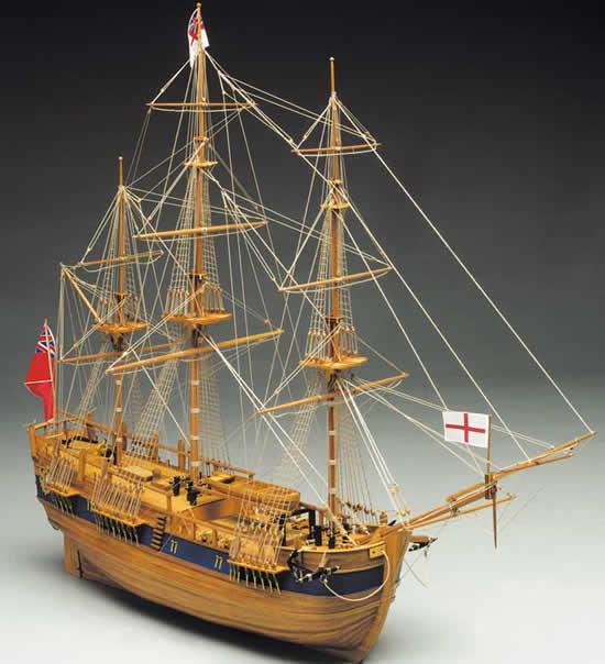 Mantua Models Endeavour Ship Kit - Optional Pre-stitched Sail Set