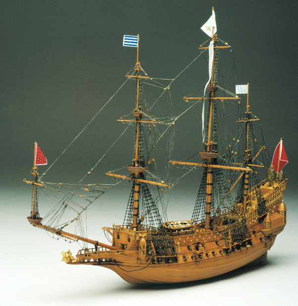 Mantua Models La Couronne Model Ship Kit - Optional Pre-stitched Sail Set
