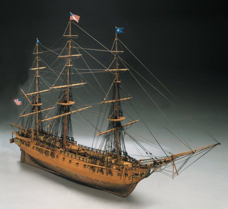 Mantua Models USS Constitution Model Ship Kit - Optional Pre-stitched Sail Set