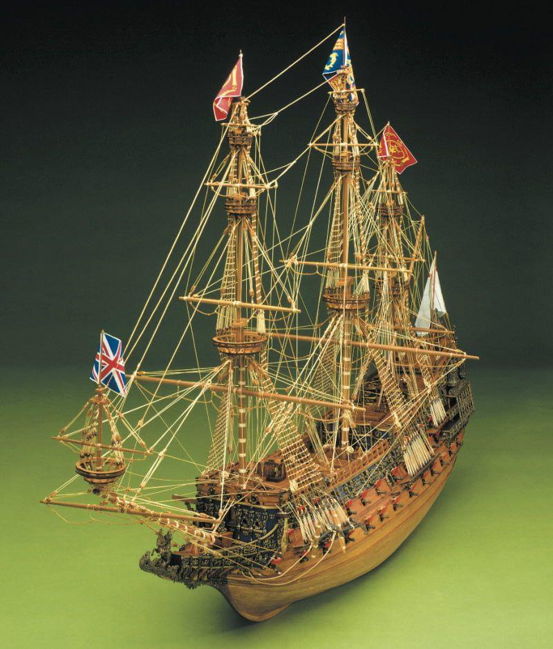 Mantua Models Sergal Sovereign of the Seas 1:78 Scale Wooden Model Ship Kit - Optional Pre-stitched Sail Set