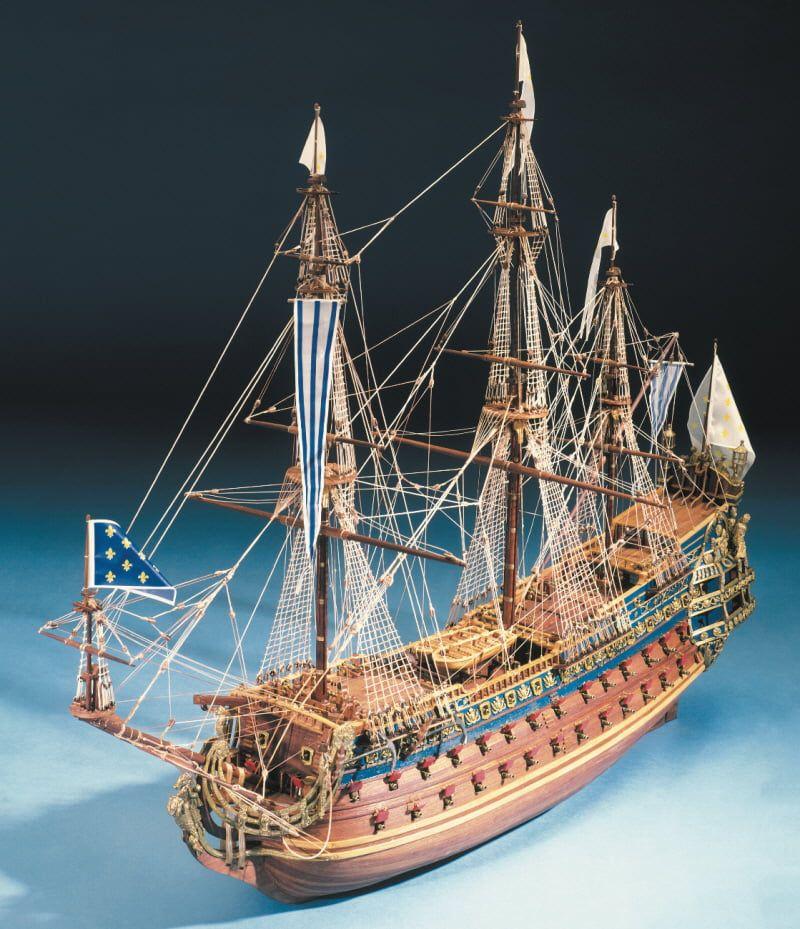Mantua Models Soleil Royal 1669 Model Ship Kit - Optional Pre-stitched Sail Set