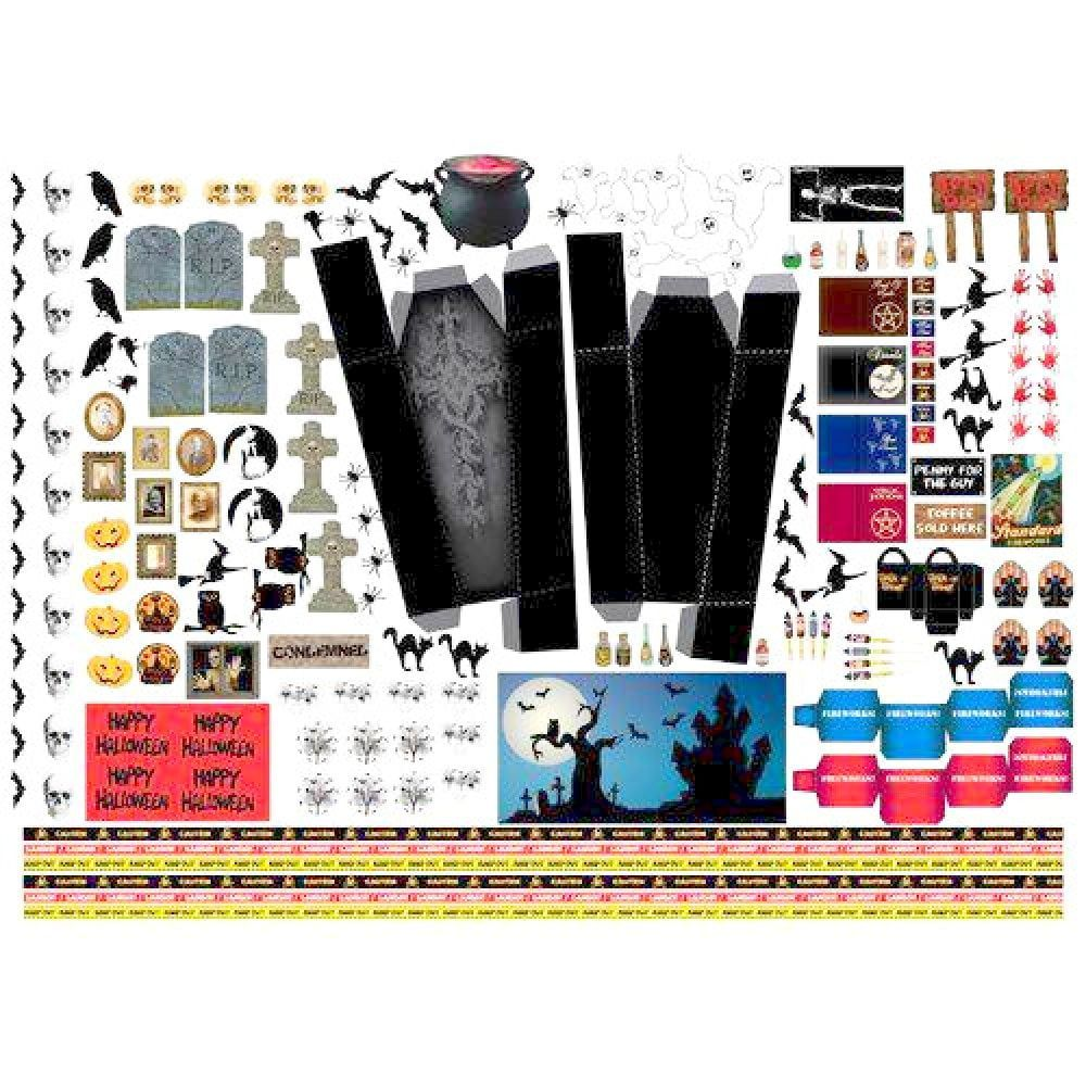 Halloween and Holidays Sheet A3 Cut-Out Sheet 1 12 Scale for Dolls House