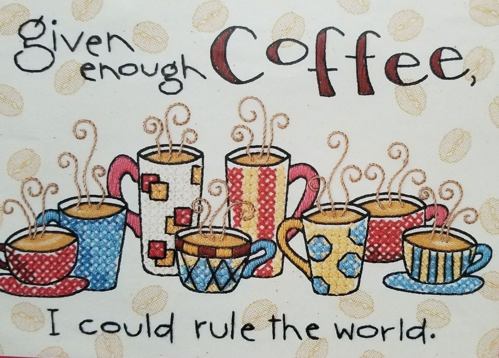 Cross Stitch - Enough Coffee