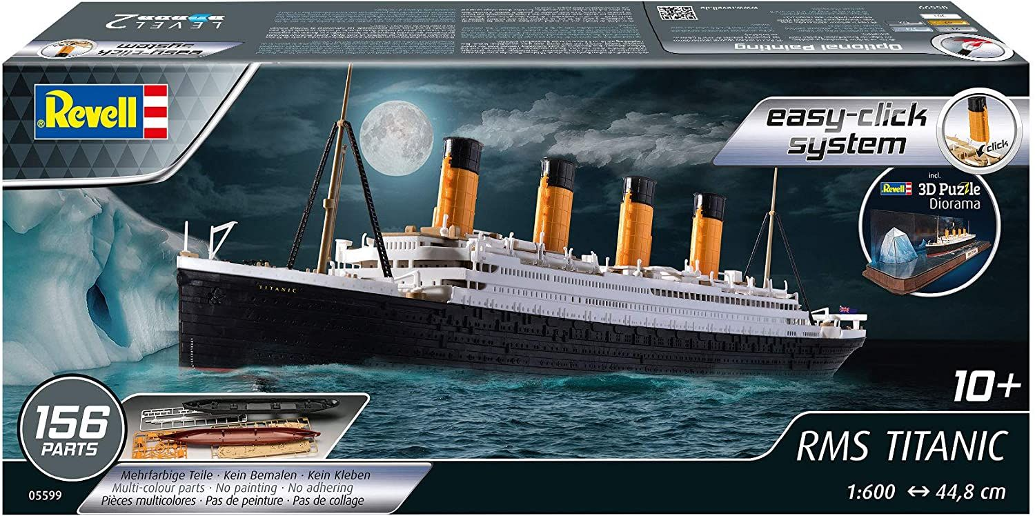 Revell 1/600 Scale RMS Titanic (easy-click) & 3D Puzzle (Iceberg)