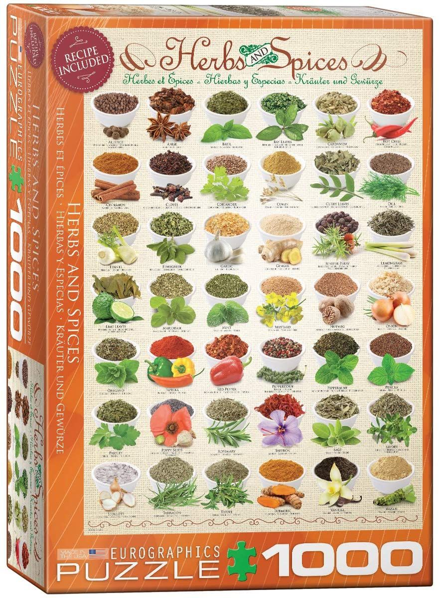Eurographics Herbs and Spices 1000 Piece Jigsaw