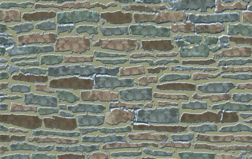 Country Stone External 1:12 Scale Quality Dolls House Wallpaper