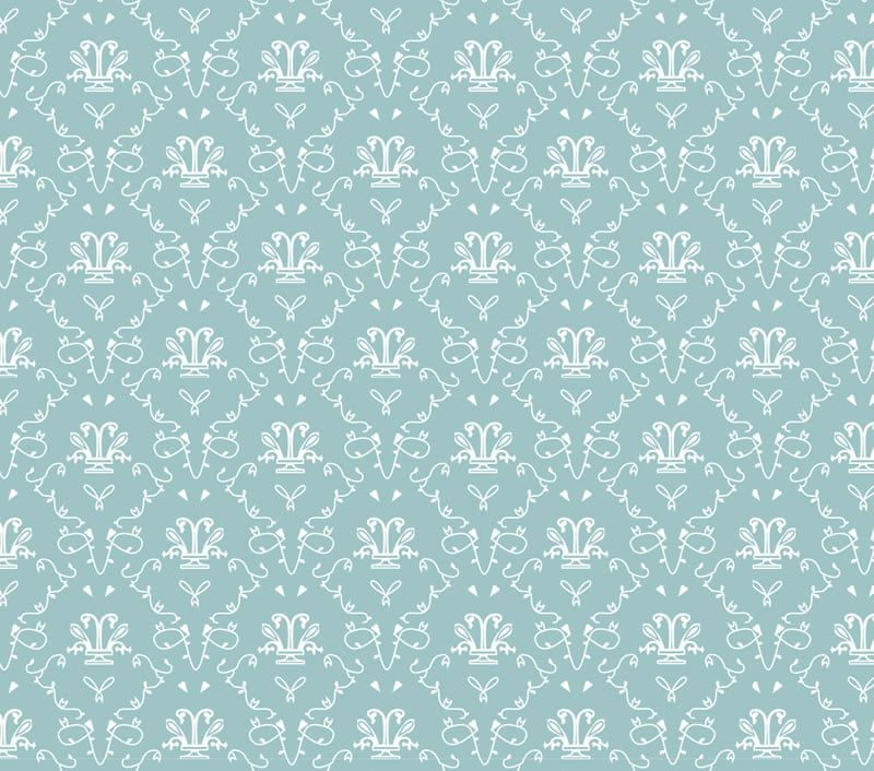 Blue French Toile Wallpaper
