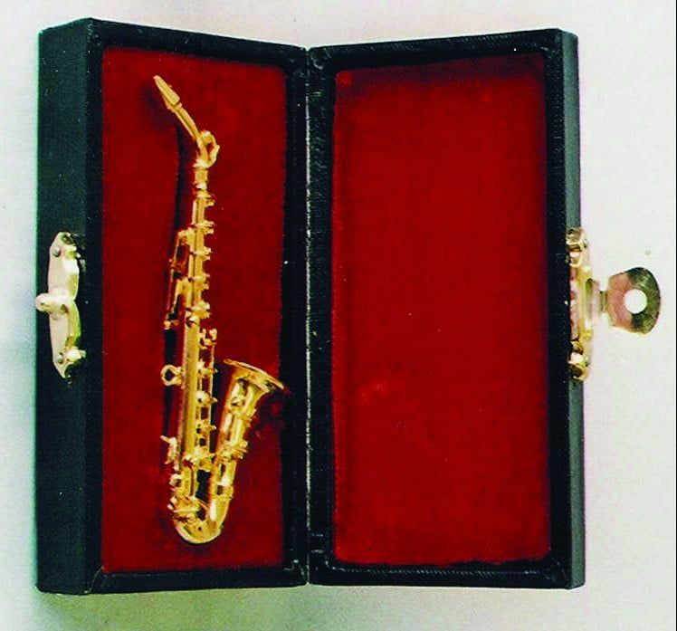 Brass Alto Saxophone with Black Case