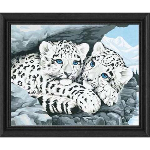 Paint By Numbers Snow Leopard Cubs
