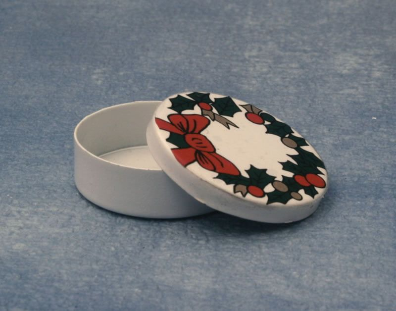 12th Scale Christmas Tin for Dolls Houses