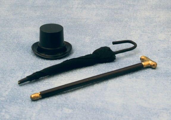 Hat, Cane and Umbrella