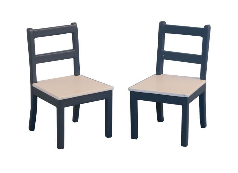 Shaker Style Chairs pk2 Blue Pine