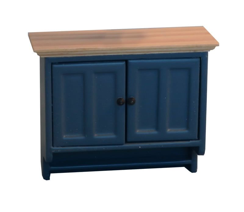 Shaker Style Wall Cabinet Blue Pine