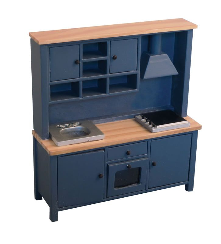 Shaker Style All In One Kitchen System Blue Pine