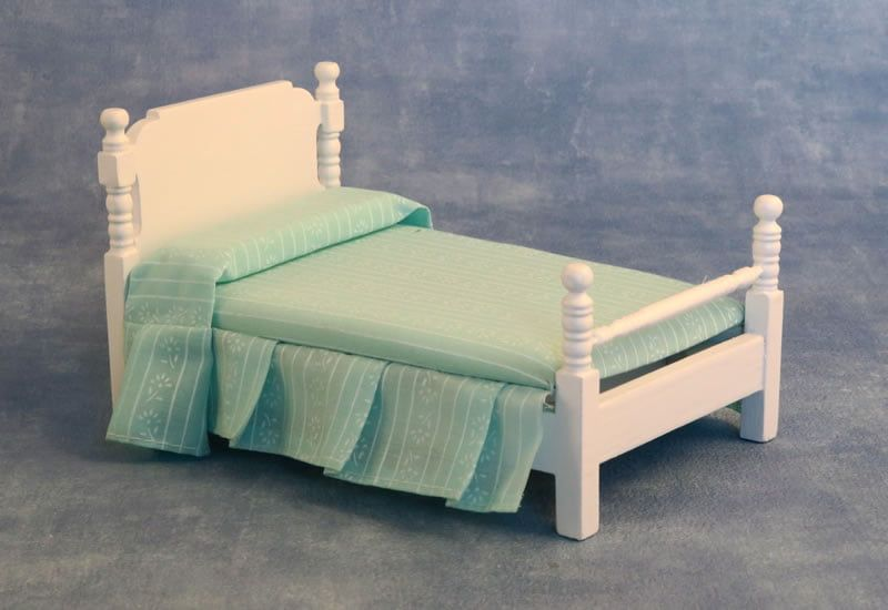 12th Scale Victorian Single Bed White for Dolls Houses