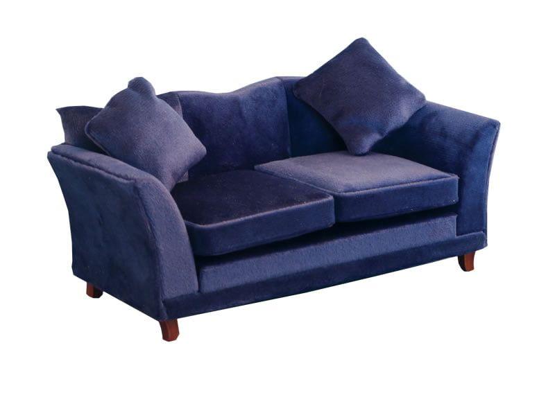 Royal Blue Modern Sofa