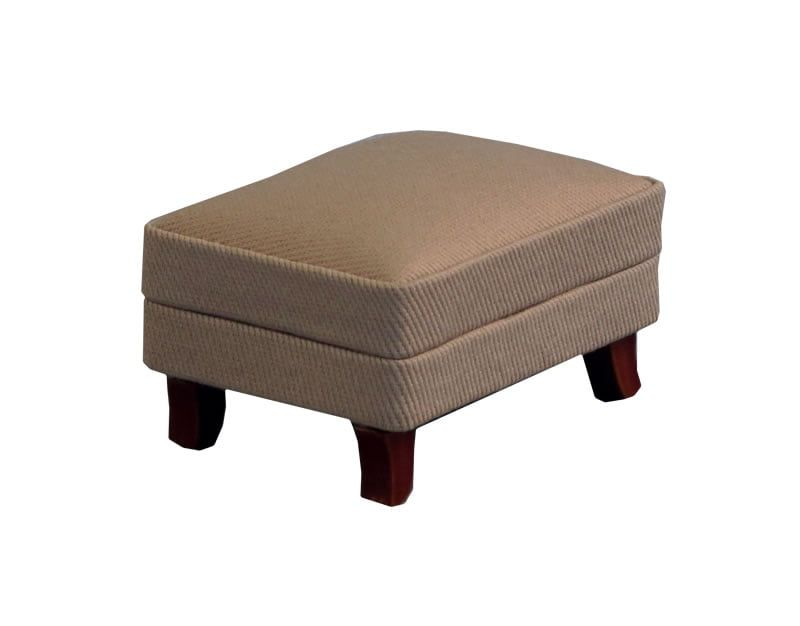 12th Scale Grey Footstool for Dolls Houses