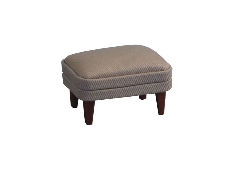 12th Scale Small Grey Footstool for Dolls Houses