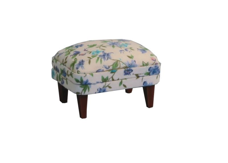 12th Scale Floral Foot Stool for Dolls Houses