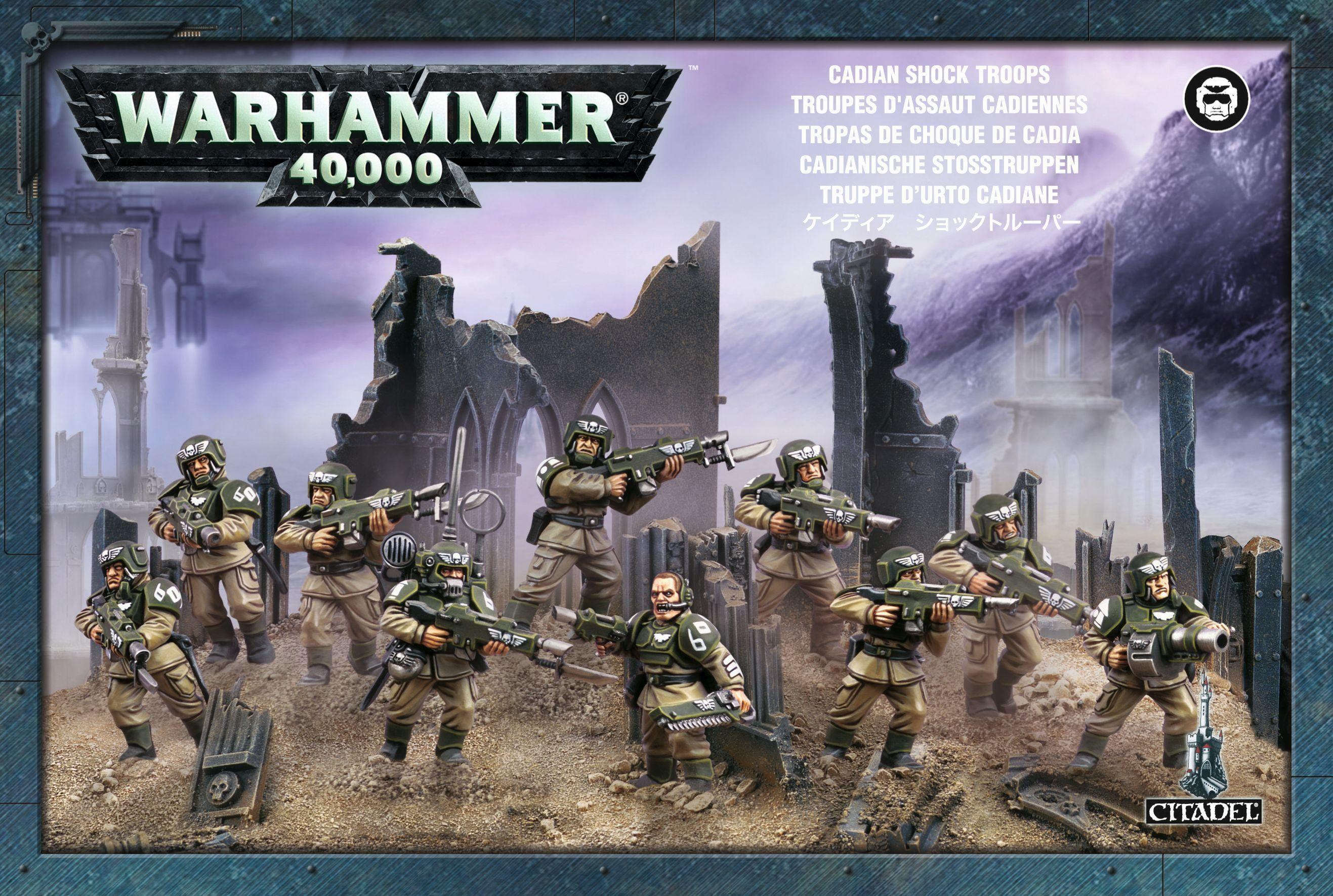 Warhammer Astra Militarum Cadian Shock Troops
