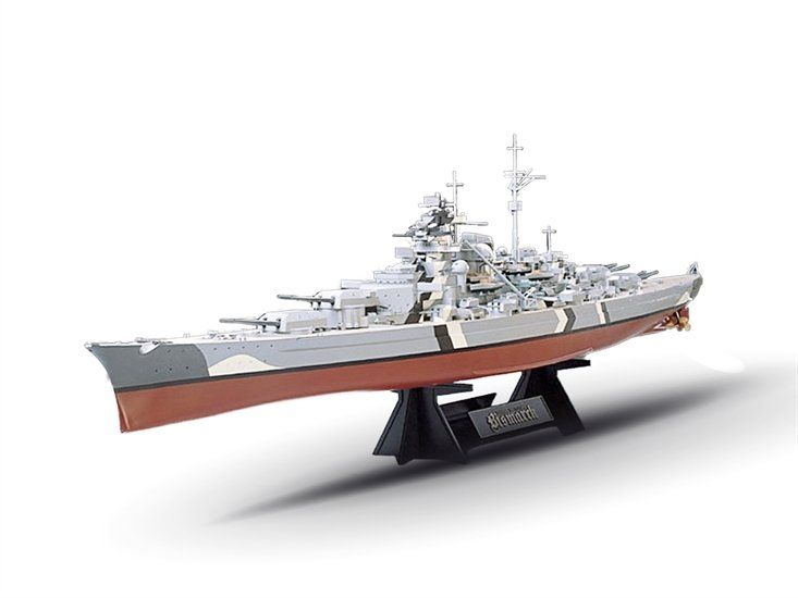 Tamiya Battleship Bismarck 1:350 Scale With Stand Plastic Model Kit