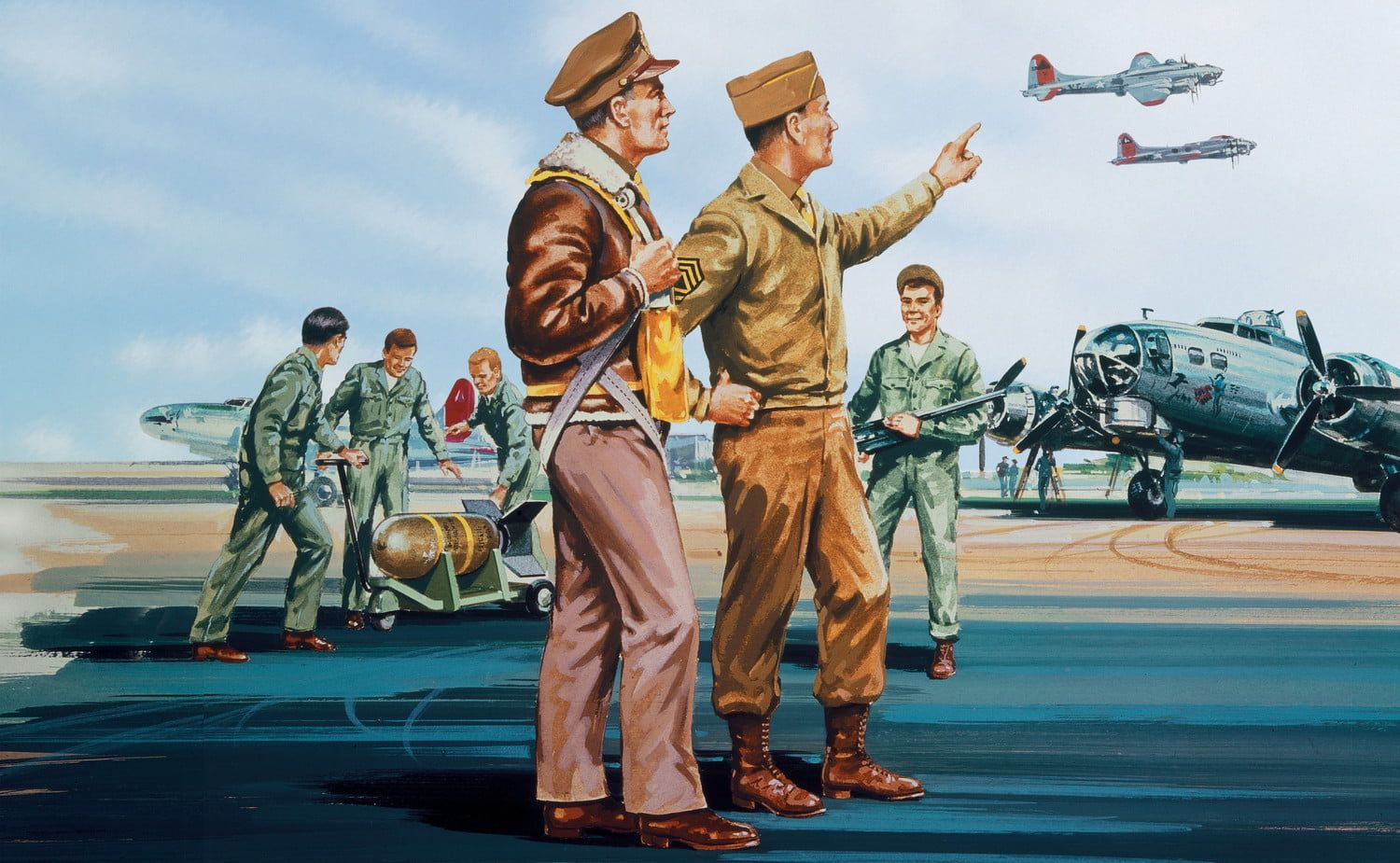 Airfix USAAF Personnel 1:76 Scale Plastic Model Kit