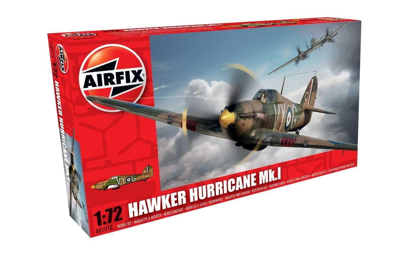Airfix Hawker Hurricane Mk.I  1:72 Scale Plastic Model Kit