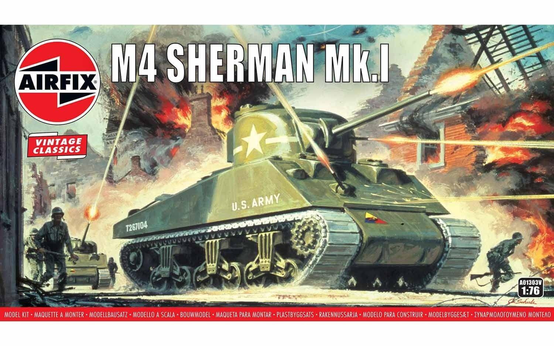 Airfix Sherman M4 Mk1 1:76 Scale Plastic Model Kit