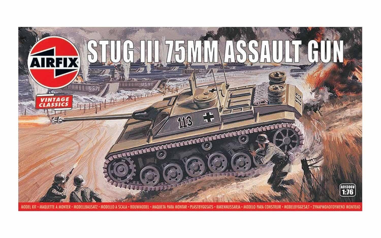 Airfix Stug III 75mm Assault Gun 1:76 Scale Plastic Model Kit