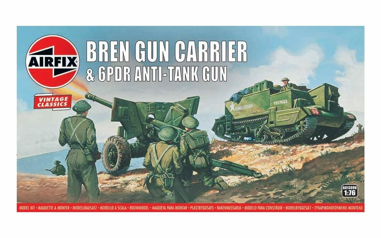 Airfix Bren Gun Carrier & 6 pdr AT Gun 1:76 Scale Plastic Model Kit