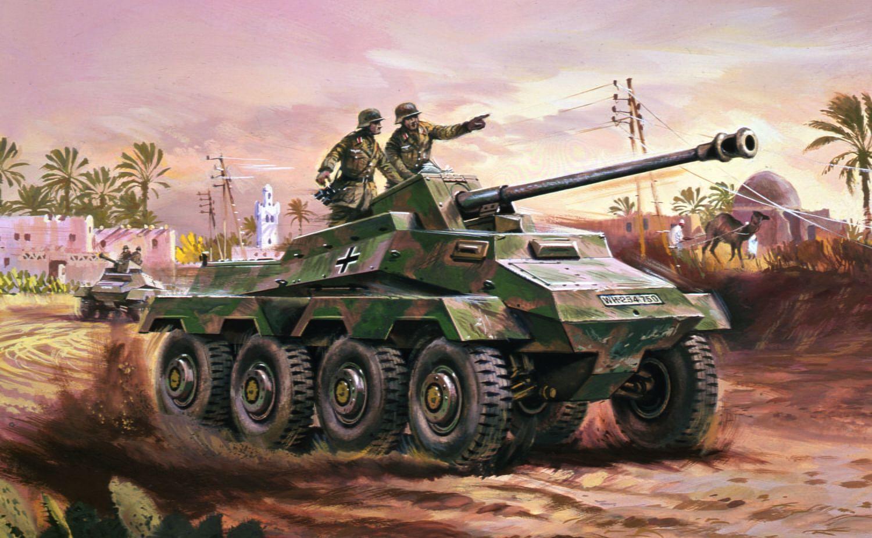Airfix SDKFZ Armoured Car 1:76 Scale Plastic Model Kit