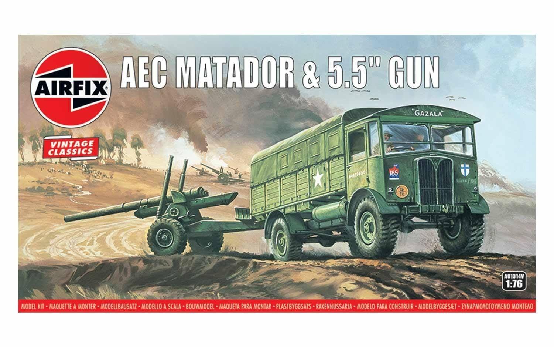 """Airfix AEC Matador and 5.5"""" Gun"""