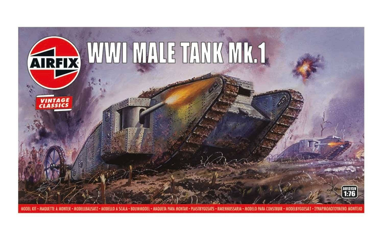 "Airfix WWI ""Male"" Tank 1:76 Scale Plastic Model Kit"