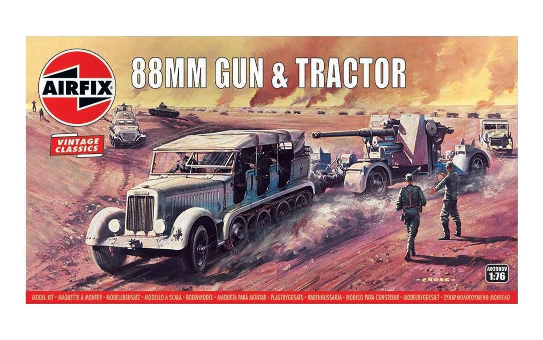 Airfix 88mm Flak Gun & Tractor 1:76 Scale Plastic Model Kit