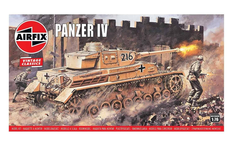 Airfix Panzer IV 1:76 Scale Plastic Model Kit
