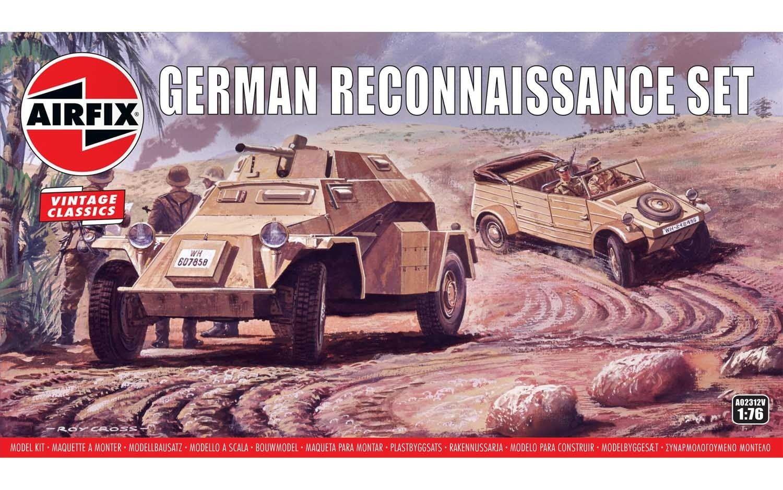 Airfix German Reconnaisance Set 1:76 Scale Plastic Model Kit