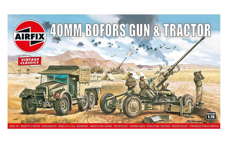 Airfix Bofors Gun & Tractor 1:76 Scale Plastic Model Kit
