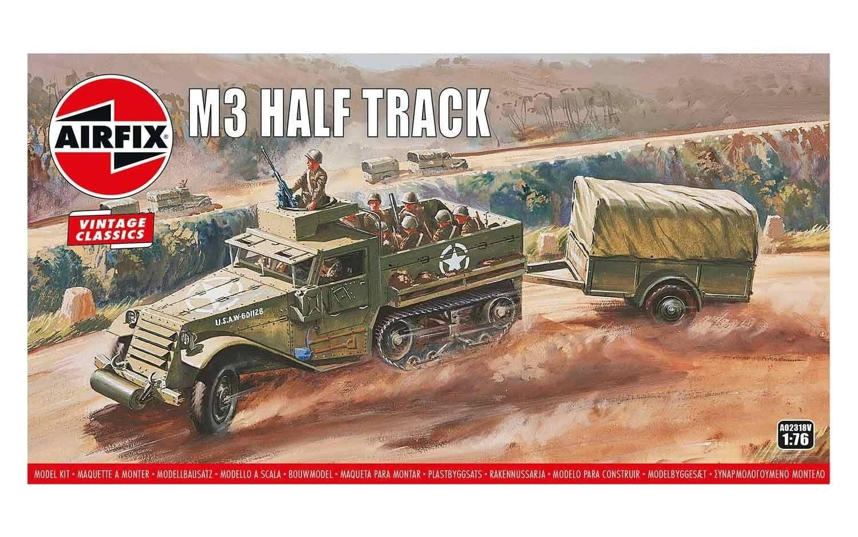 Airfix Half-Track M3 1:76 Scale Plastic Model Kit