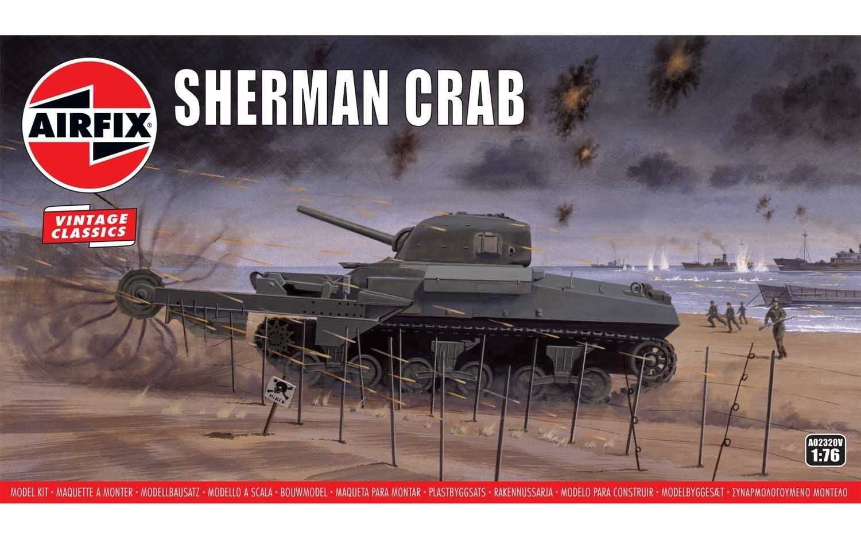 Airfix Sherman Crab 1:76 Scale Plastic Model Kit
