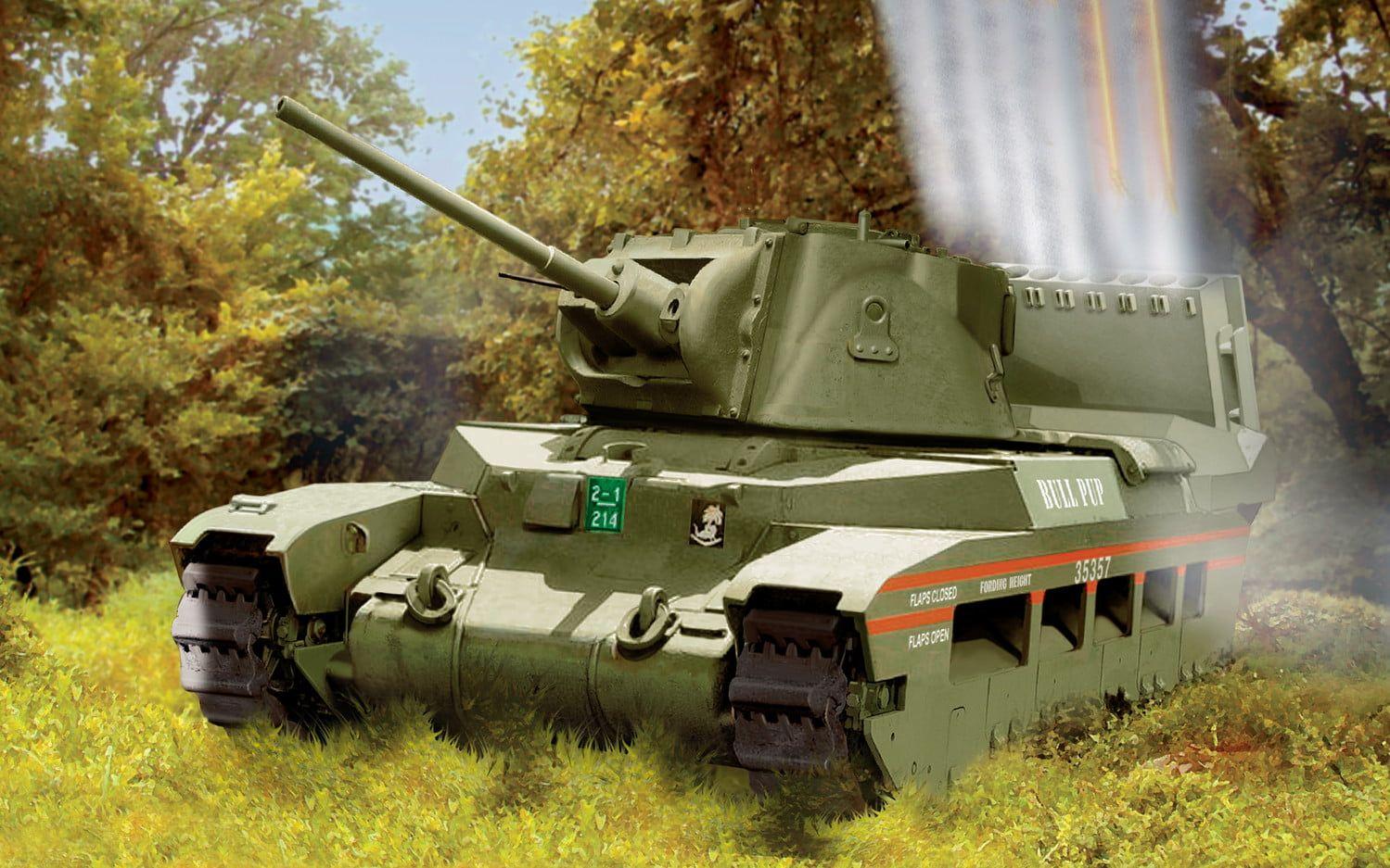 Airfix Matilda Hedgehog Tank 1:76 Scale Plastic Model Kit